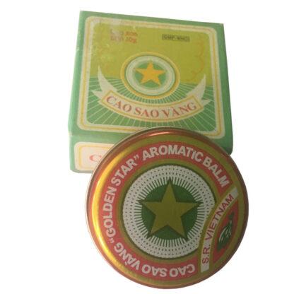 Cao Sao Vang Vietnamese Gold Star Balm Tin w/ box