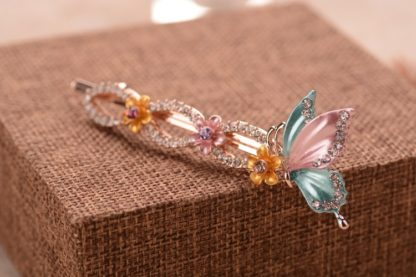 Multi Painted Butterfly Bobby Pin