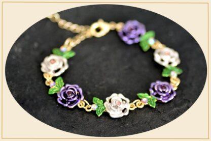 Main Painted Flower Metal Braclet Chain