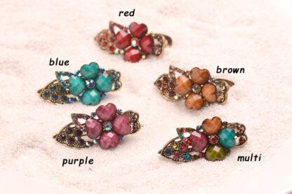 All Colors Metal Mini Hair Clip Four Petal
