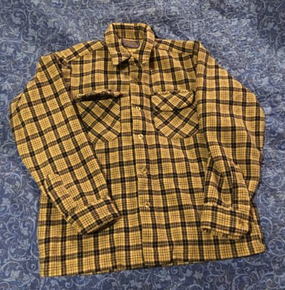 Pendelton 100% Wool Shirt Brown and Blue