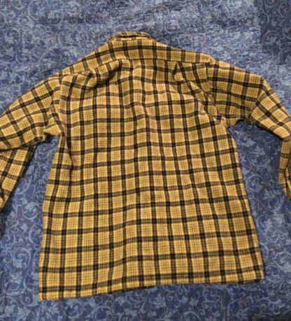 BackPendelton 100% Wool Shirt Brown and Blue