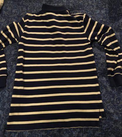 BackRalph Lauren Polo Blue White Stripe Single Orage Stripe Long Sleeve Shirt