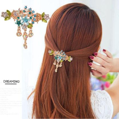 Modeled Flower Bouquet hair clip