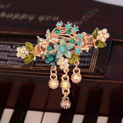 Blue Flower Bouquet hair clip