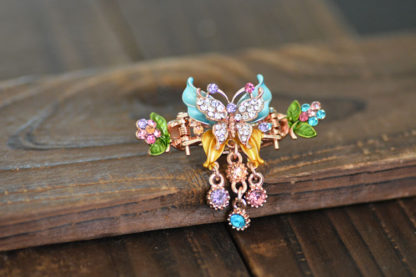 Multi Painted Butterfly Hair Clip
