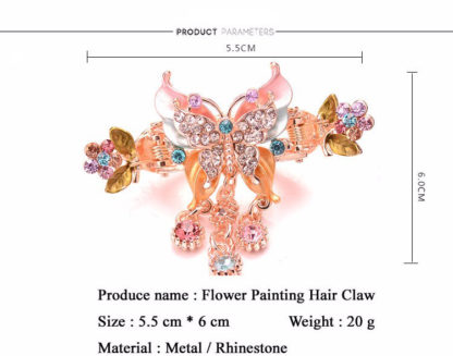Measure Painted Butterfly Hair Clip