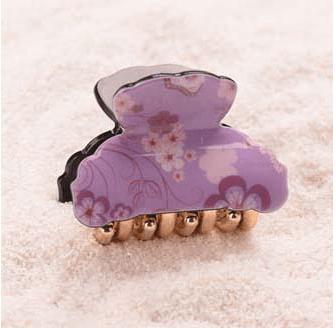 Purple Small Acrylic Hair Claw