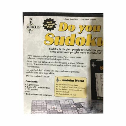 Do You Sudoku? board game