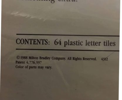 upwords board game copyright 1988