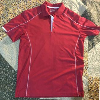 Red Nike Golf Shirt Dri-Fit Mens Medium