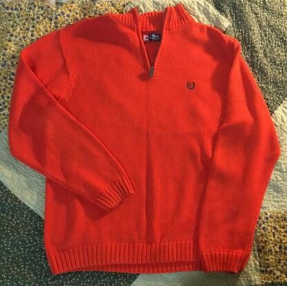 Orange Sweater quarter zip Ralph Lauren