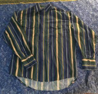 Wrangler Western Shirt Blue, Green, Tan