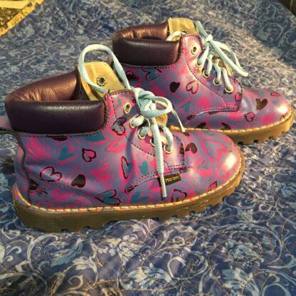 dr martens child boots purple