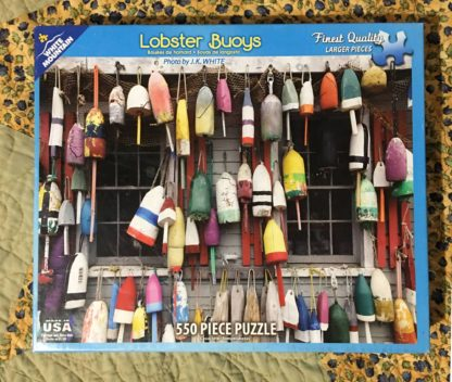 lobster buoys puzzle box front