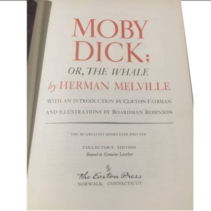 Moby Dick or The Whale Leather Bound Title Page