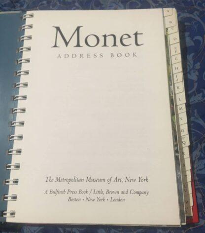 Monet Address Book Title Page