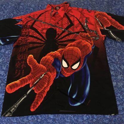 Spiderman Marvel Button Down Shirt 2001