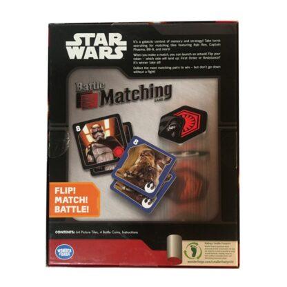Star Wars Matching Game Back