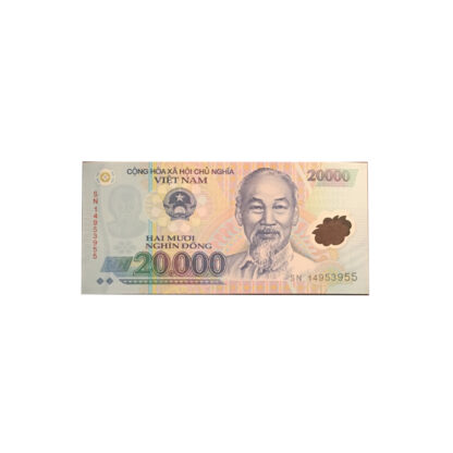 20,000 Dong Vietnamese Note Currency