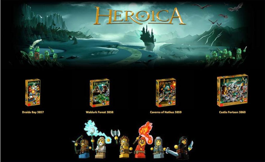 Heroica Lego Games Banner
