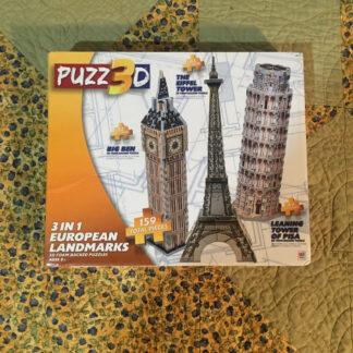 3D Puzzle 3-in-1 European Buildings