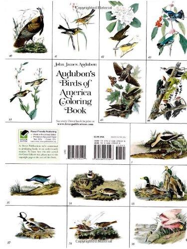 Audubon's Birds opf America Coloring Book back cover