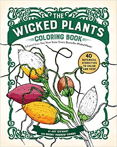 The Wicked Plants Coloring Book Cover Front