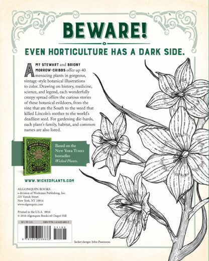 The Wicked Plants Coloring Book Back Cover